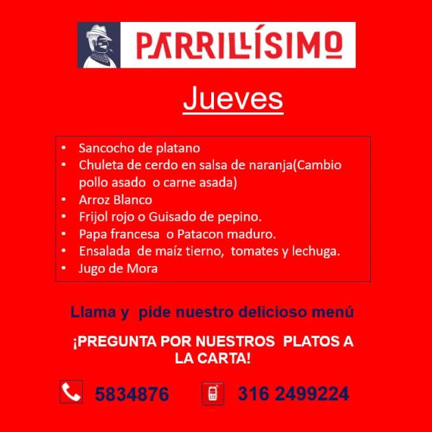 JUEVES DE PARRILLÍSIMO
