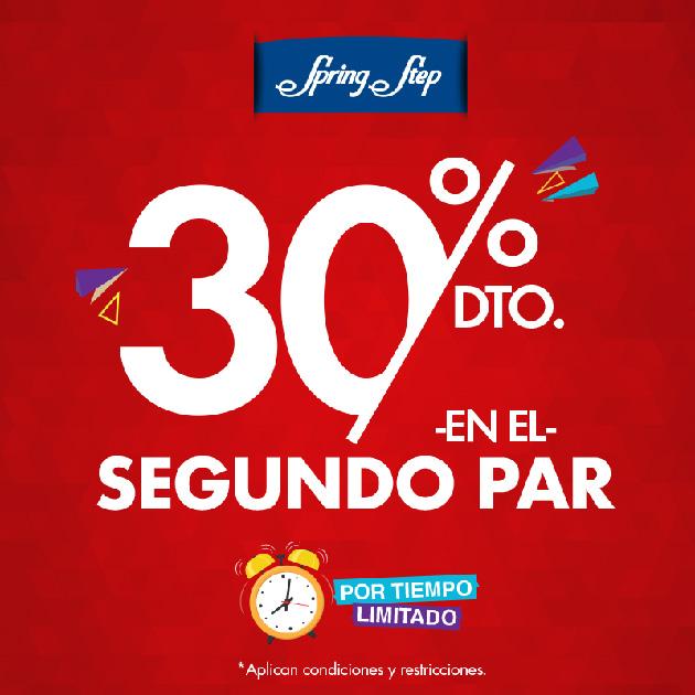 30% DE DESCUENTO EN EL SEGUNDO PAR